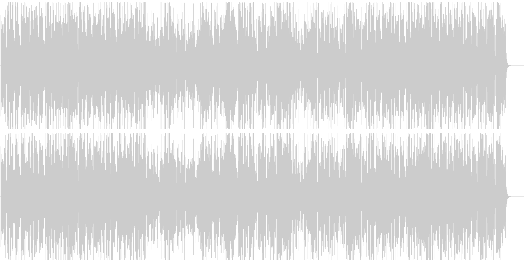 50年代風のジャズブルース サックス生録の未再生の波形