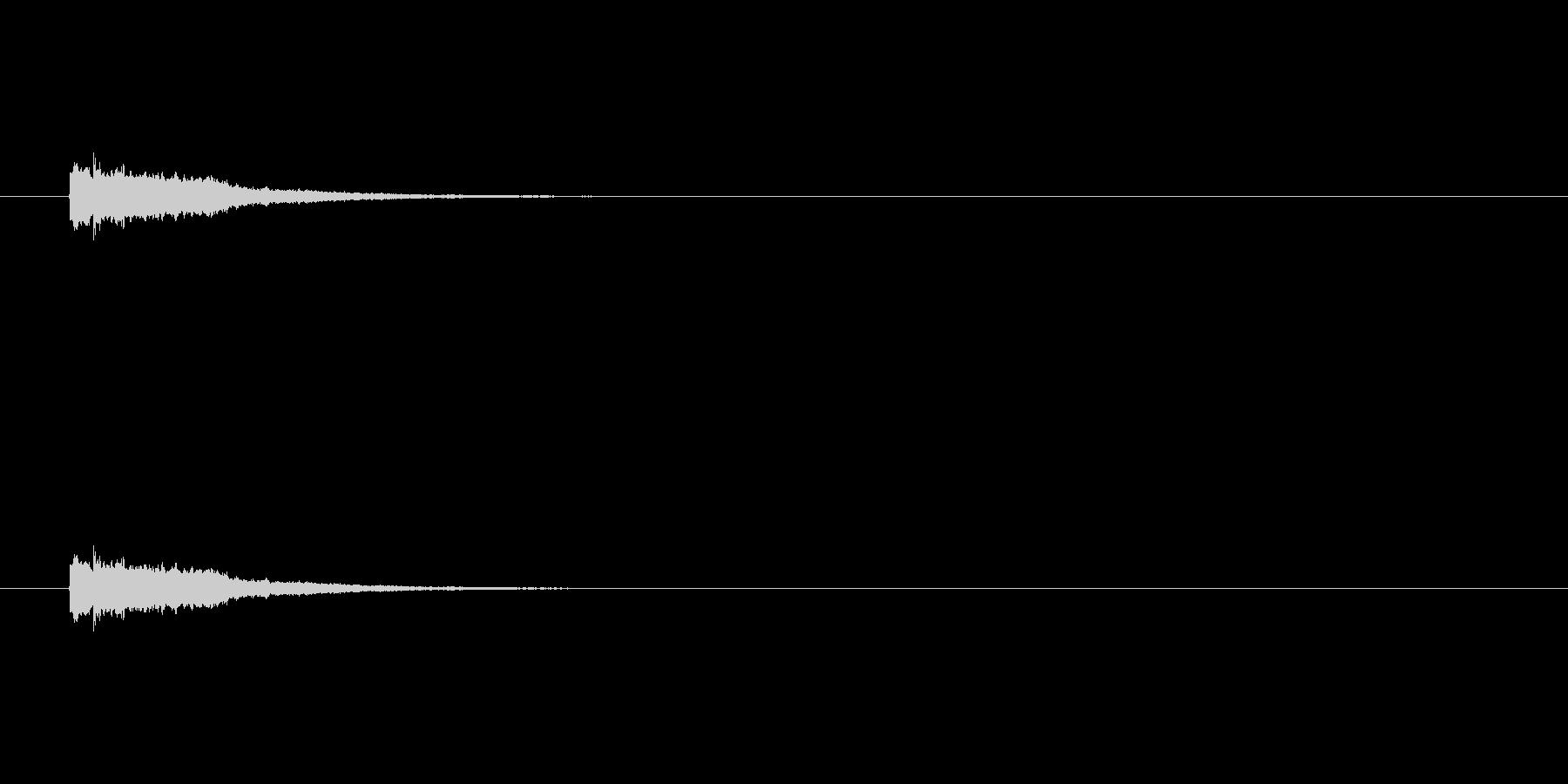 【ひらめき05-2】の未再生の波形
