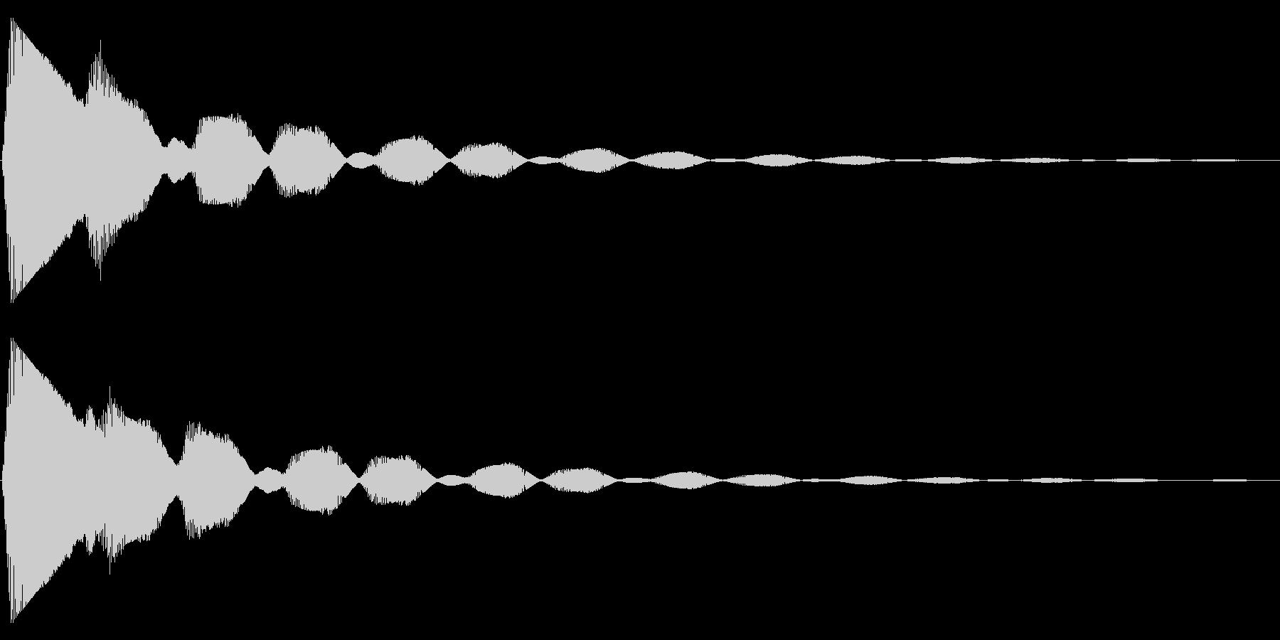 ステータスアップ・アイテムゲット1の未再生の波形