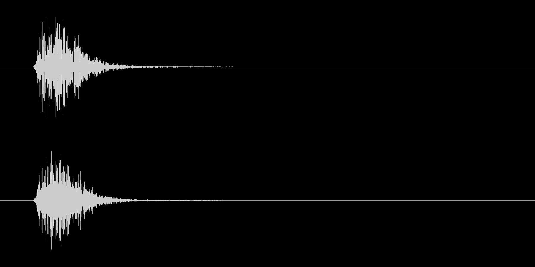 メニューボタンのクリック-スウッシュの未再生の波形