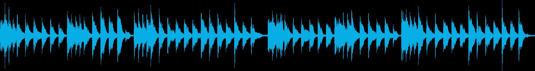 ロシア風の物悲しいピチカートのジングルの再生済みの波形