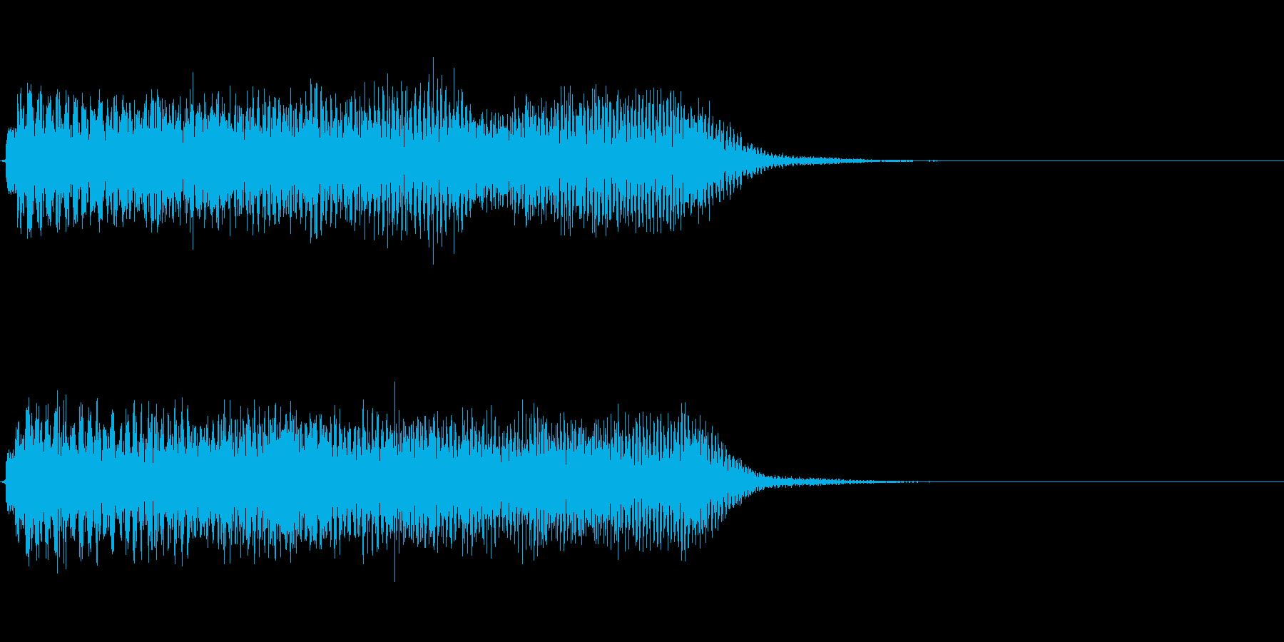 約5秒 アイキャッチ、サウンドロゴの再生済みの波形
