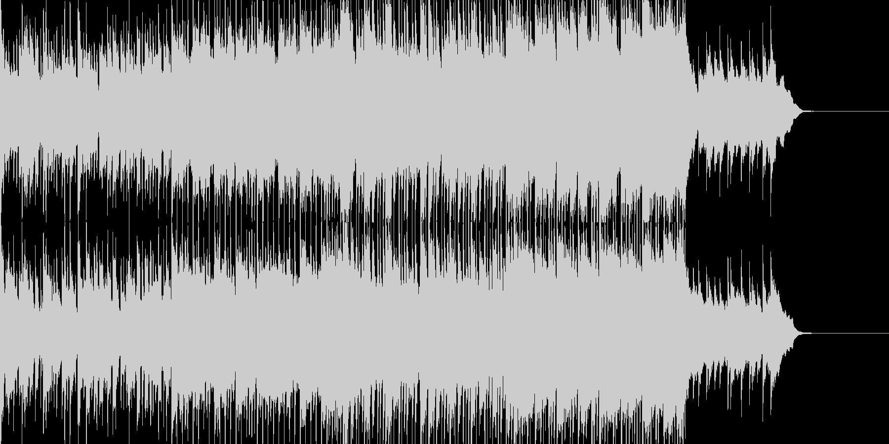 カラフルなイメージのロックポップBGMの未再生の波形