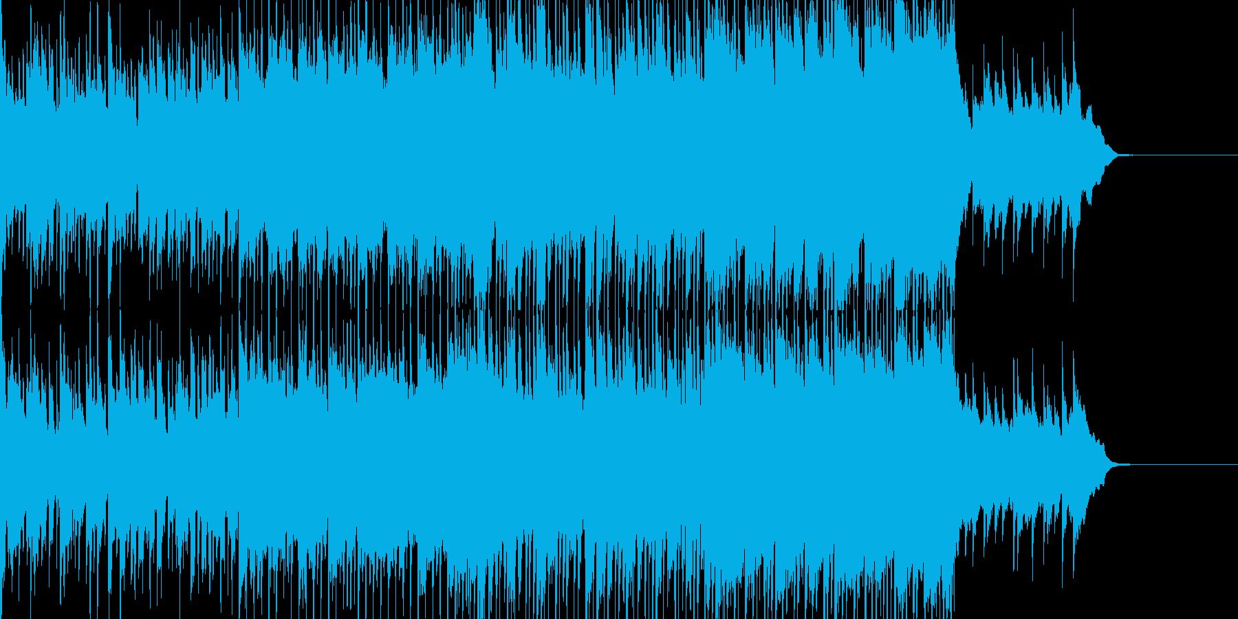 カラフルなイメージのロックポップBGMの再生済みの波形