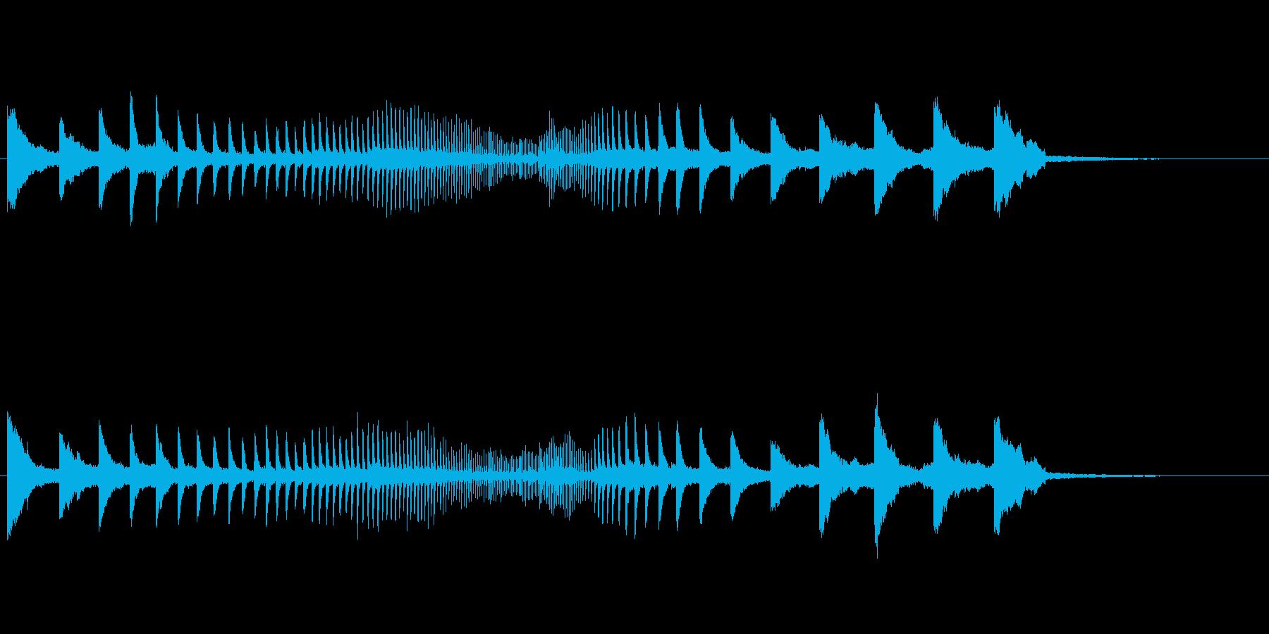 素材 Metal Hits Ris...の再生済みの波形