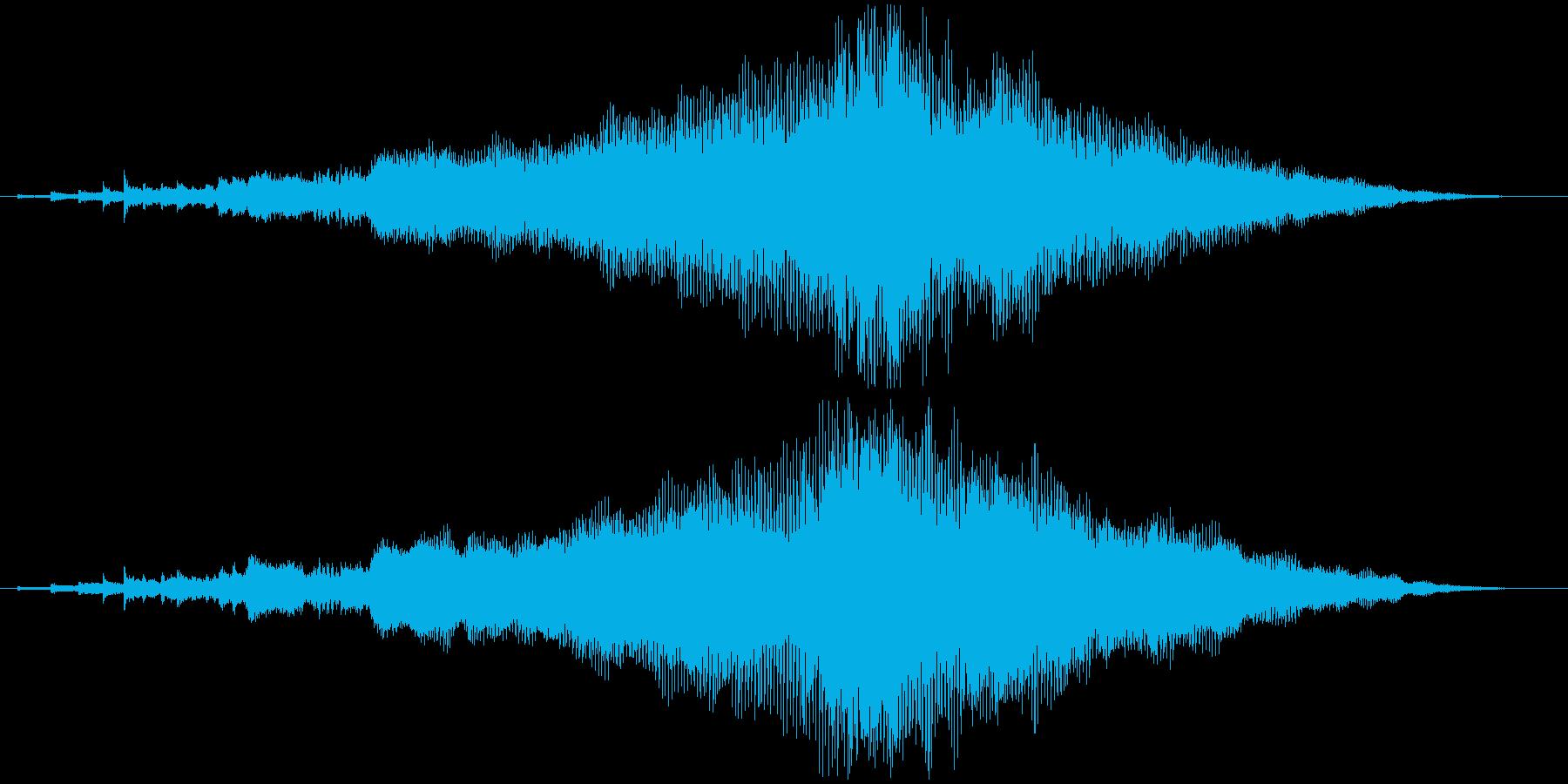 企業向けサウンドロゴ~ハープと管弦楽器~の再生済みの波形