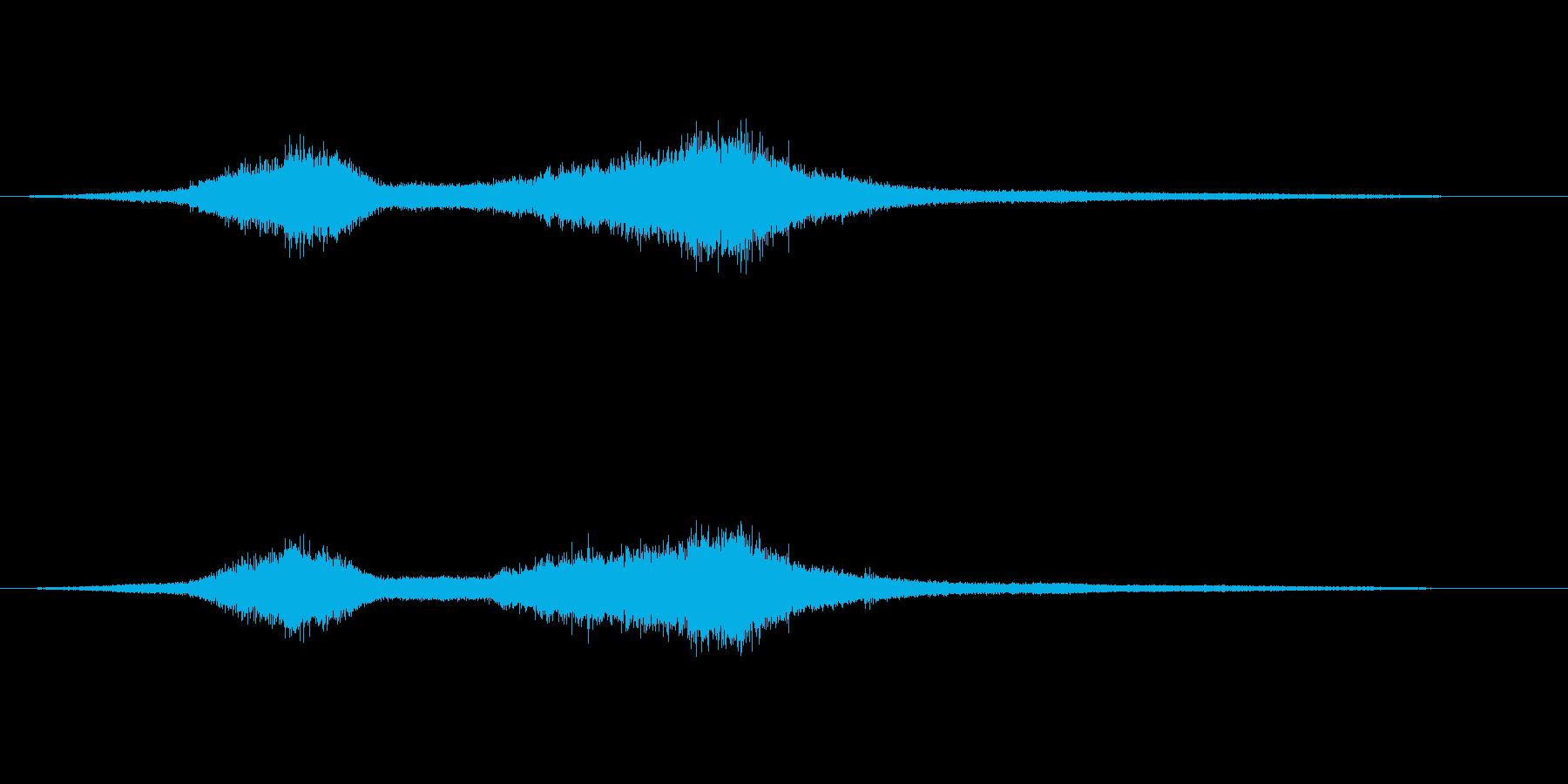 波の音(大波のイメージ)の再生済みの波形