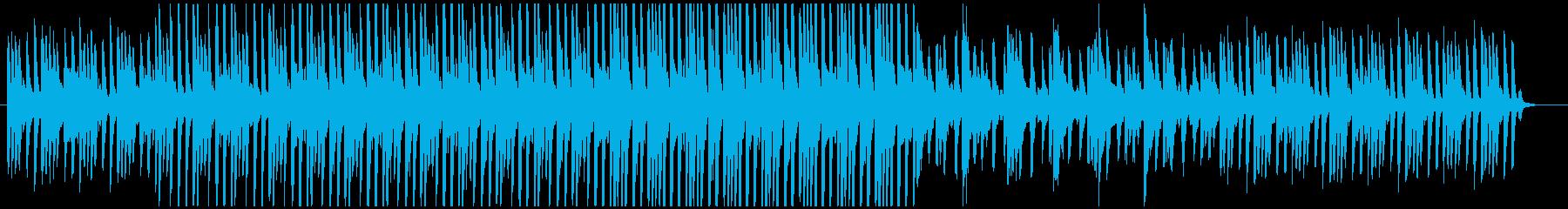 実験や科学をイメージしたピアノミニマル風の再生済みの波形