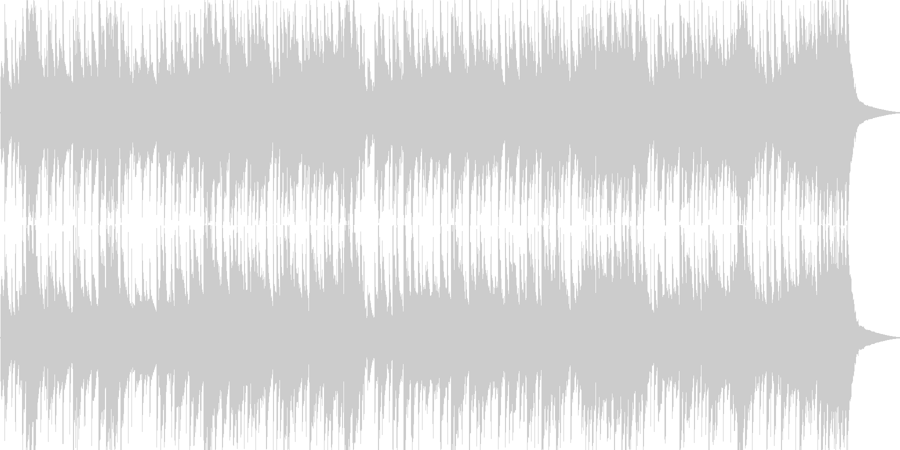 ナイロンギターが奏でるロックバラードの未再生の波形