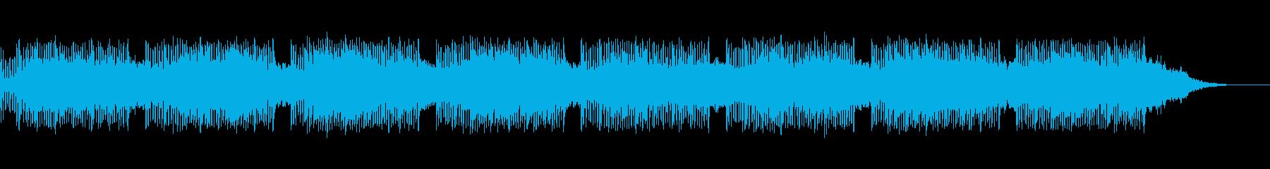 ボイスパーカッションによる民族風の曲の再生済みの波形