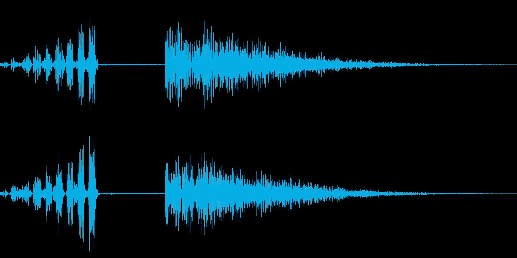 ホラー系アタック音107の再生済みの波形