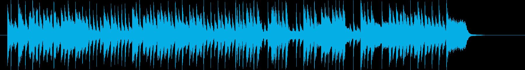 明るくて和やかな音楽の再生済みの波形