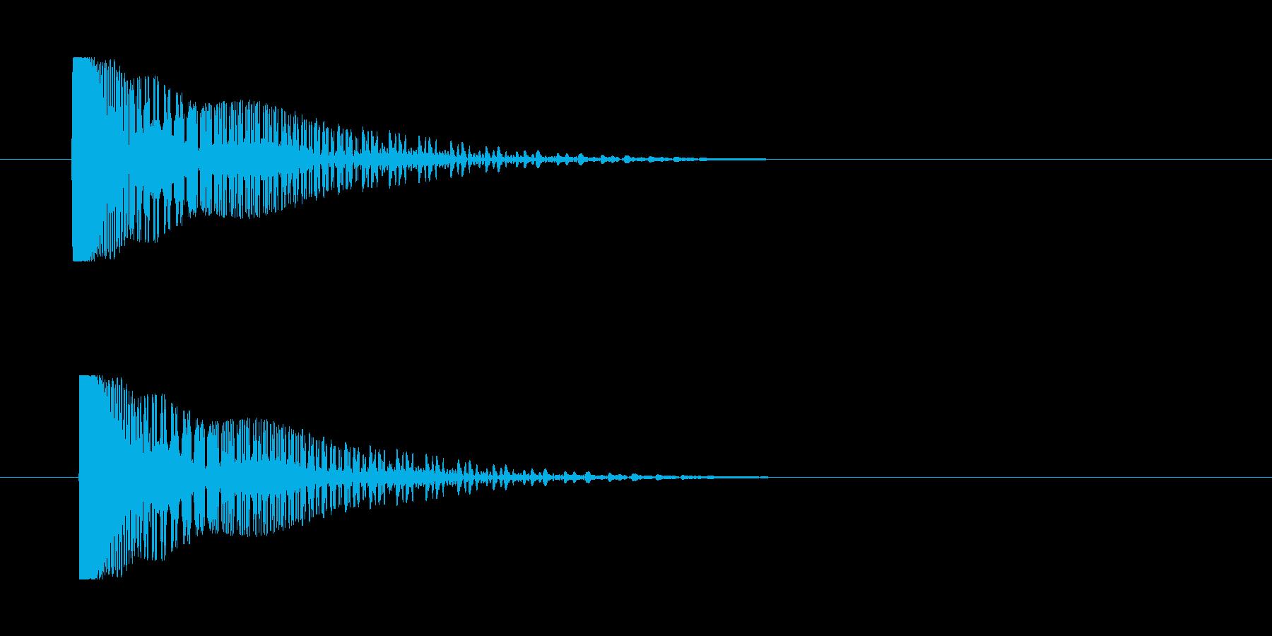 レーザー音-141-3の再生済みの波形