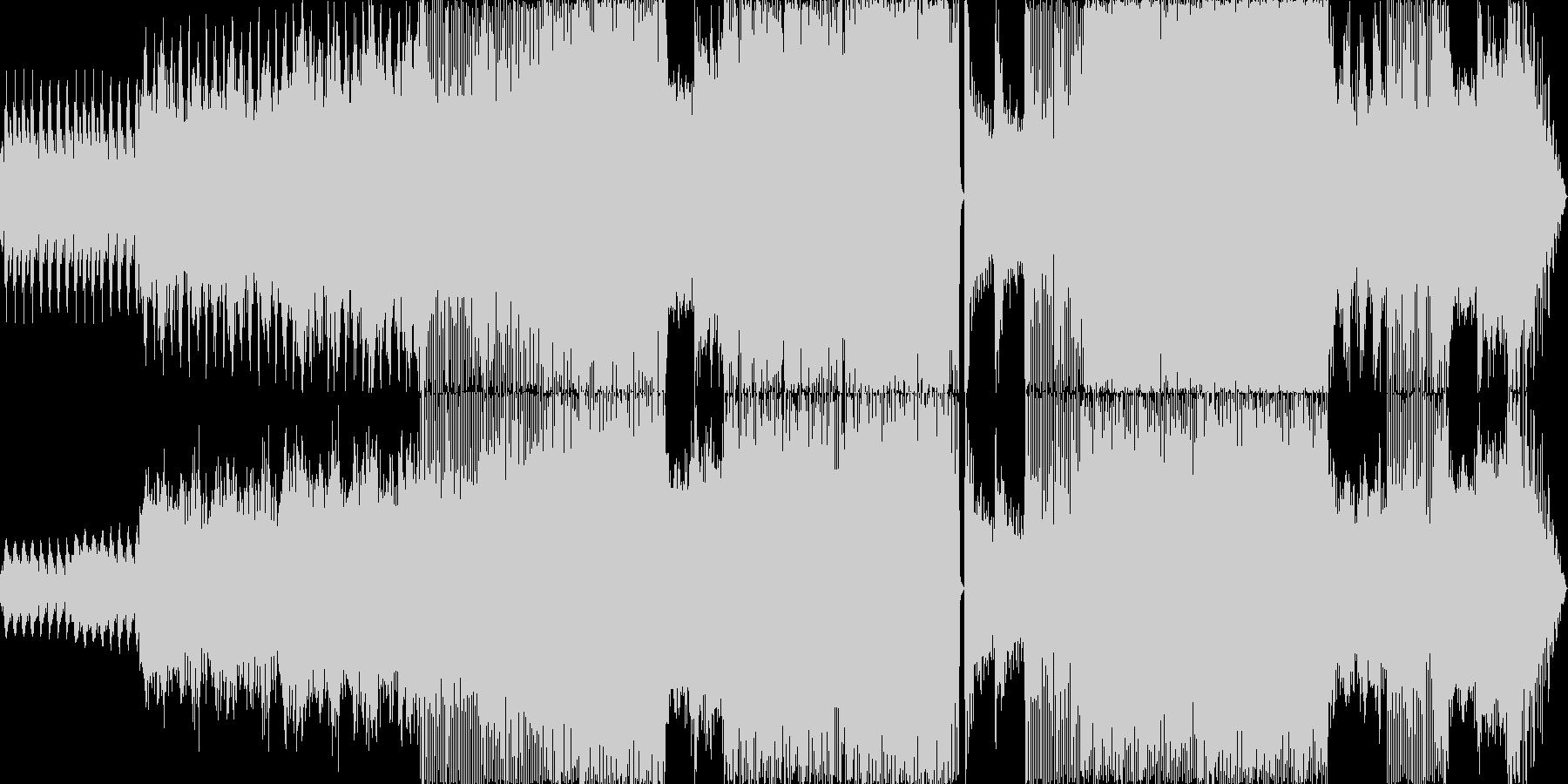 荘厳なサウンドの未再生の波形