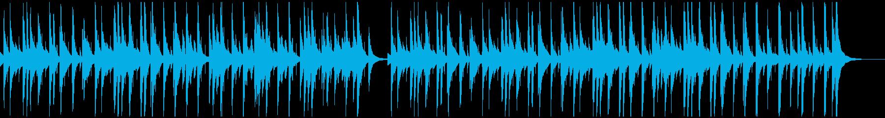 穏やかで牧歌的なイメージのほのぼの日常曲の再生済みの波形