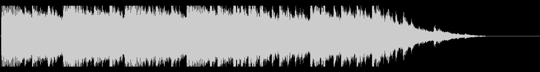 広がりのあるピアノアンビエント風BGMの未再生の波形