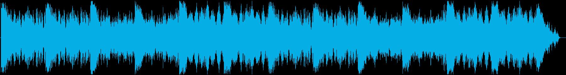 Disturbing cinematic horror background music's reproduced waveform