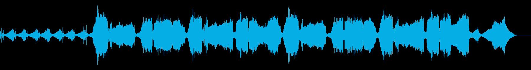 荒廃した雰囲気のある楽曲の再生済みの波形