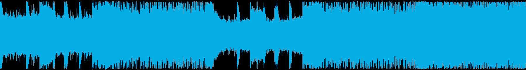 ゲーム・戦闘・かっこいいロック・ループの再生済みの波形
