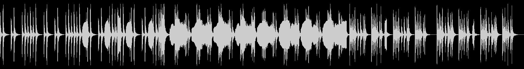 ゆったりとしてシンプルでコミカルな曲の未再生の波形