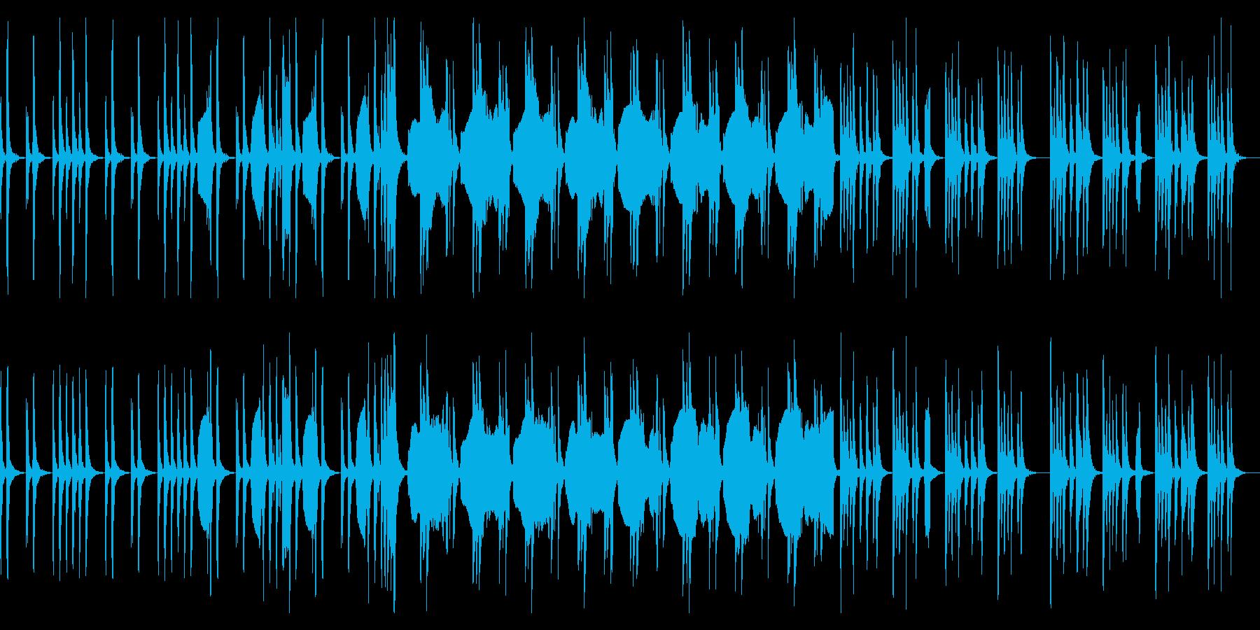 ゆったりとしてシンプルでコミカルな曲の再生済みの波形