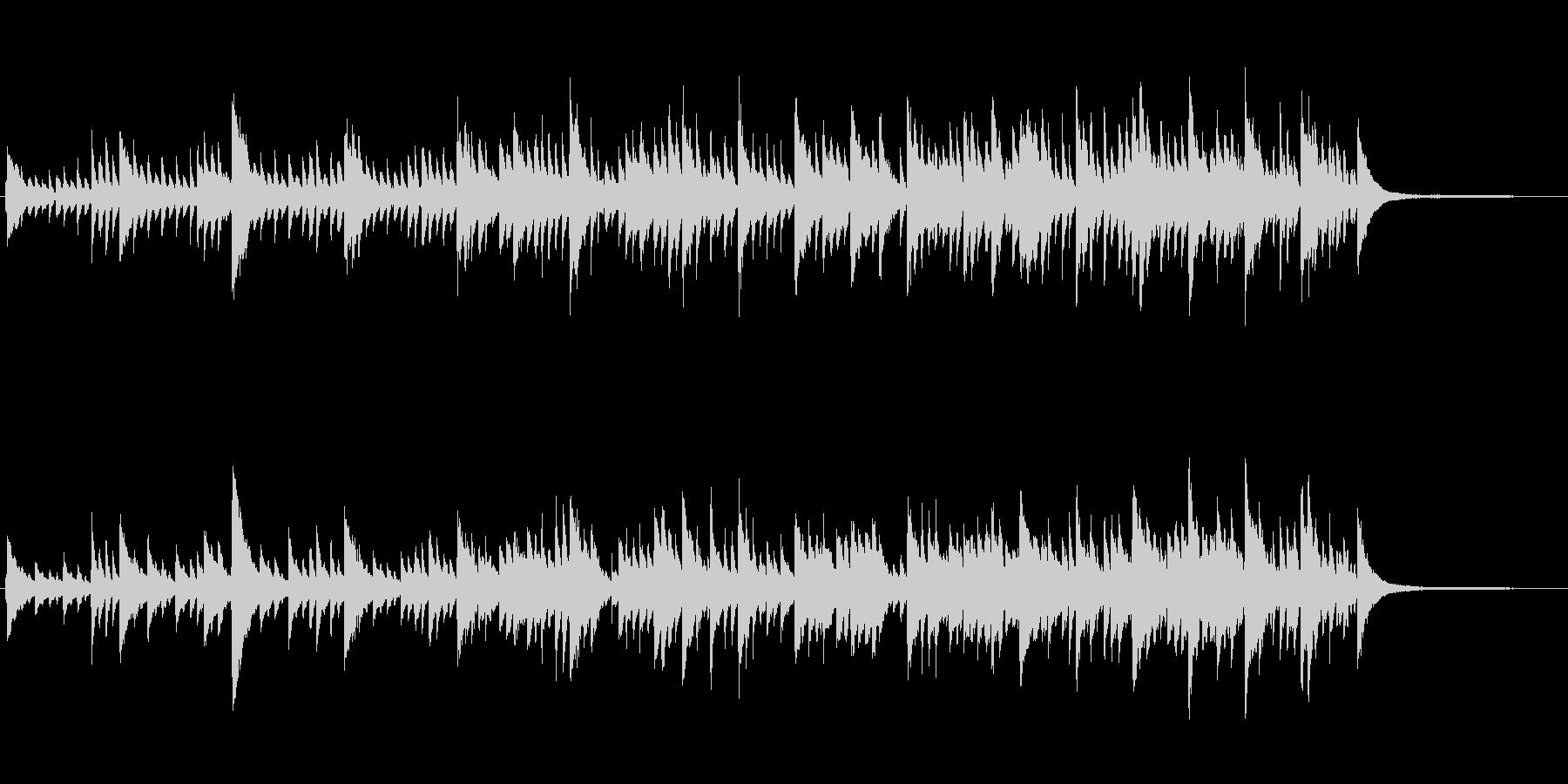 CM映像、シンプル、スタイリッシュピアノの未再生の波形