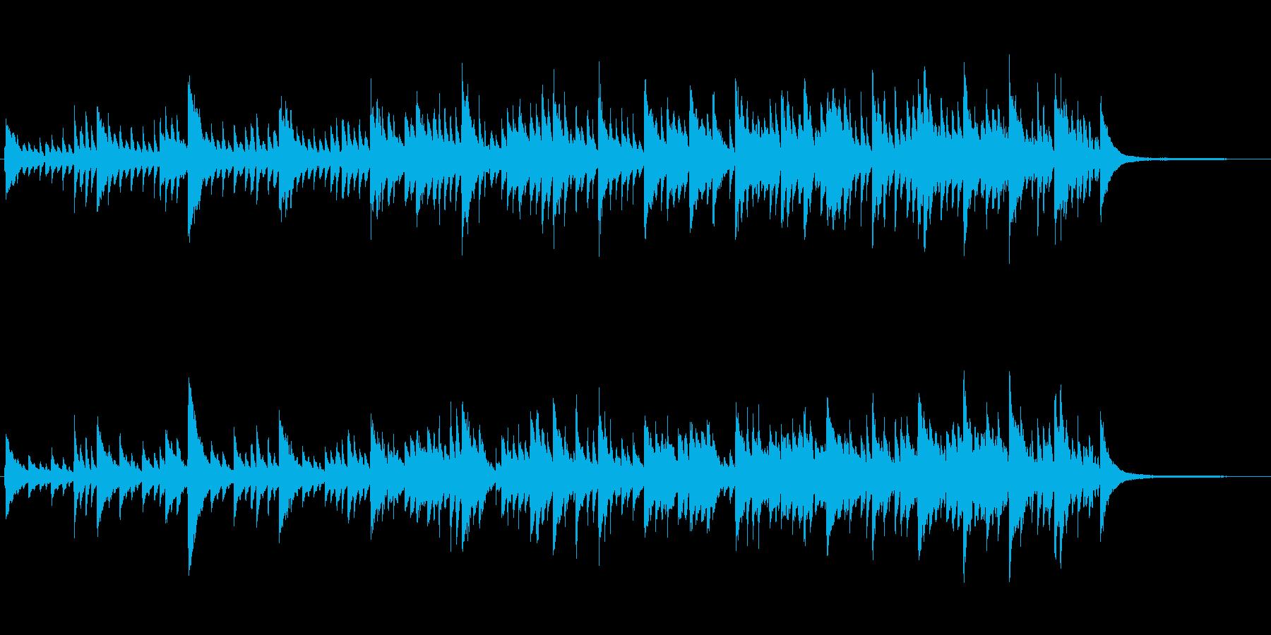 CM映像、シンプル、スタイリッシュピアノの再生済みの波形