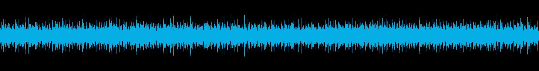 アコギの伴奏と幻想的なシンセを合わせた曲の再生済みの波形
