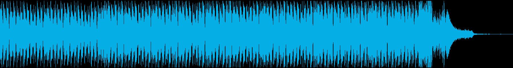 お洒落なピアノとシンセが特徴なハウスの再生済みの波形