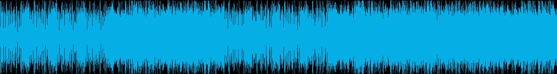 緊迫感のあるBGMアップテンポな曲です。の再生済みの波形