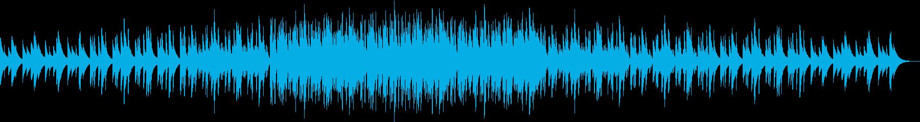 綺麗な音色の楽器が響き合う癒し系音楽の再生済みの波形