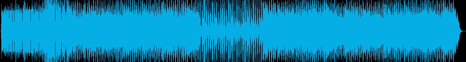 疾走感のあるテクノループ音楽 の再生済みの波形