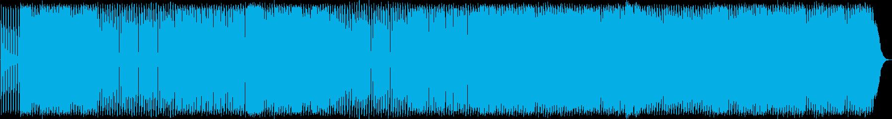 アップテンポファンキーハウスミュージックの再生済みの波形