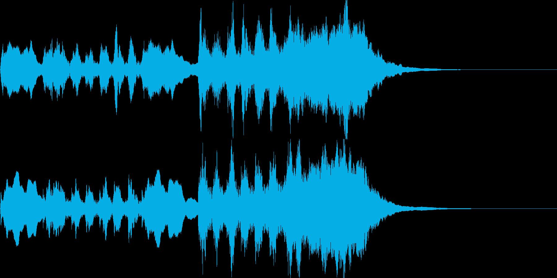 トランペットのファンファーレ。少し不気味の再生済みの波形