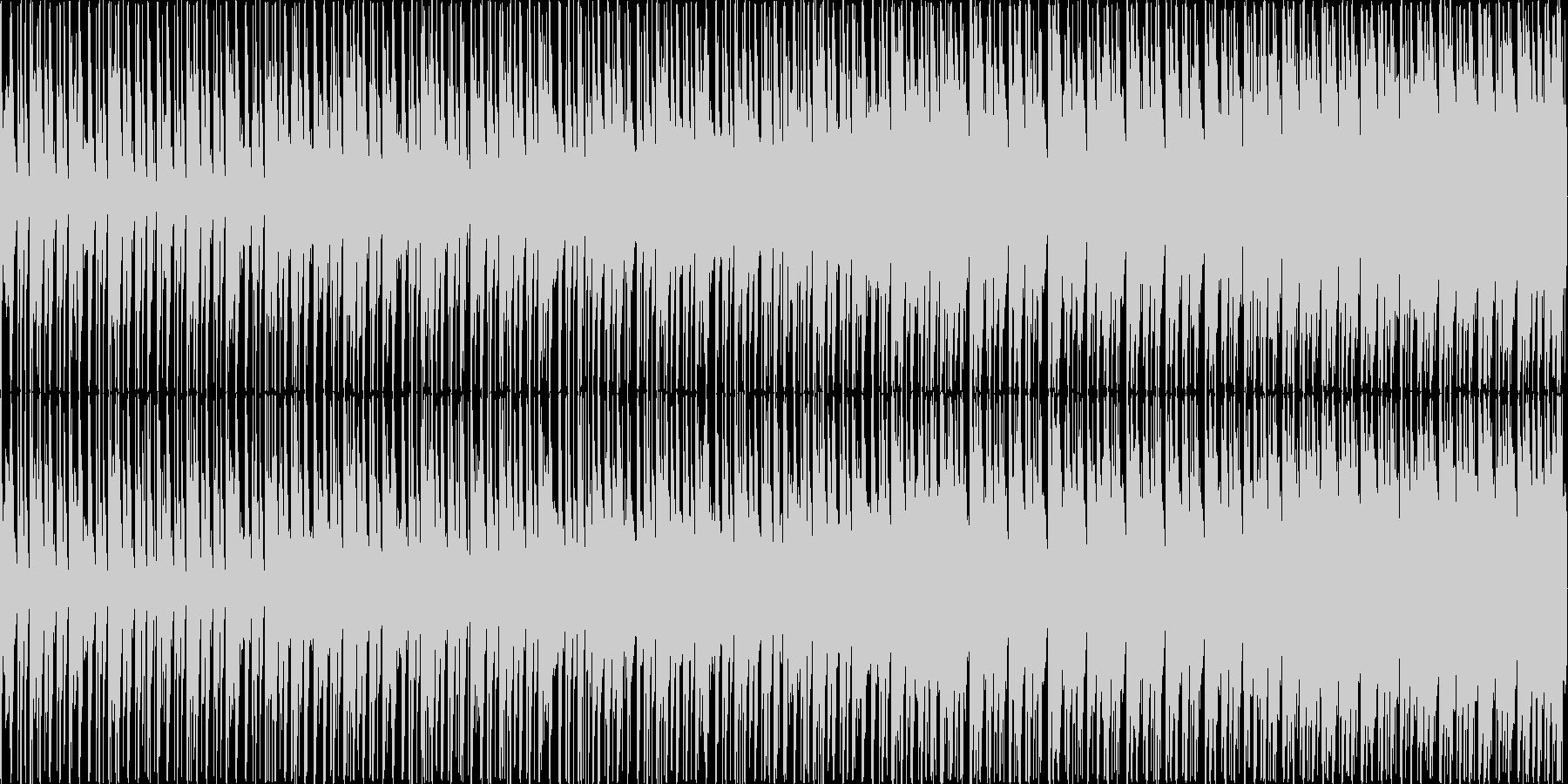 明るい雰囲気のエレクトロニカBGMの未再生の波形