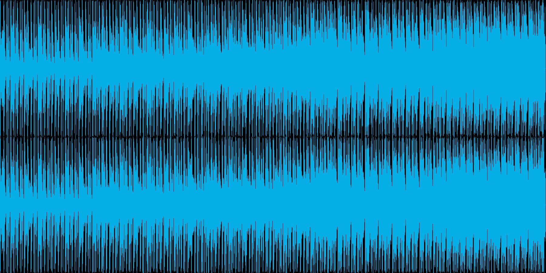明るい雰囲気のエレクトロニカBGMの再生済みの波形