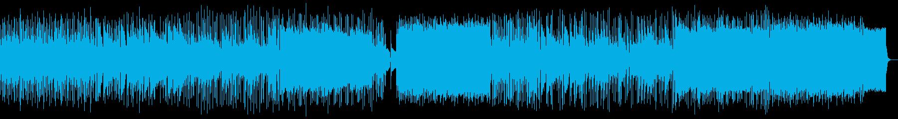 屋根裏部屋イメージ:米フォーク風スロー曲の再生済みの波形