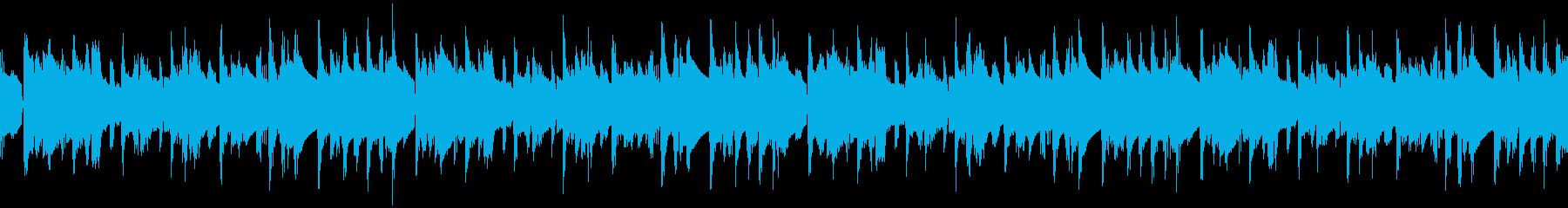 ループ 寝起きののんびりとしたオシャレ曲の再生済みの波形