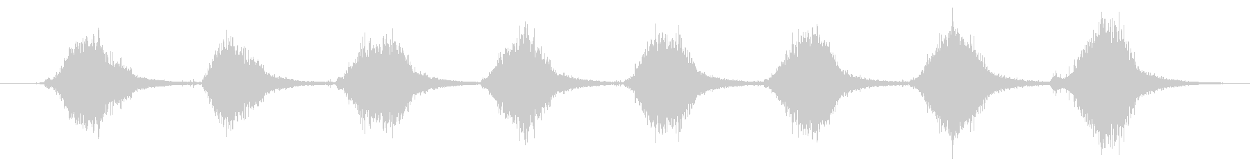 ハードストローまたはコーンブルーム...の未再生の波形