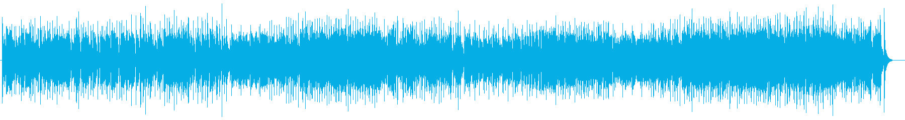 ほのぼのと明るく楽しい雰囲気のBGMの再生済みの波形