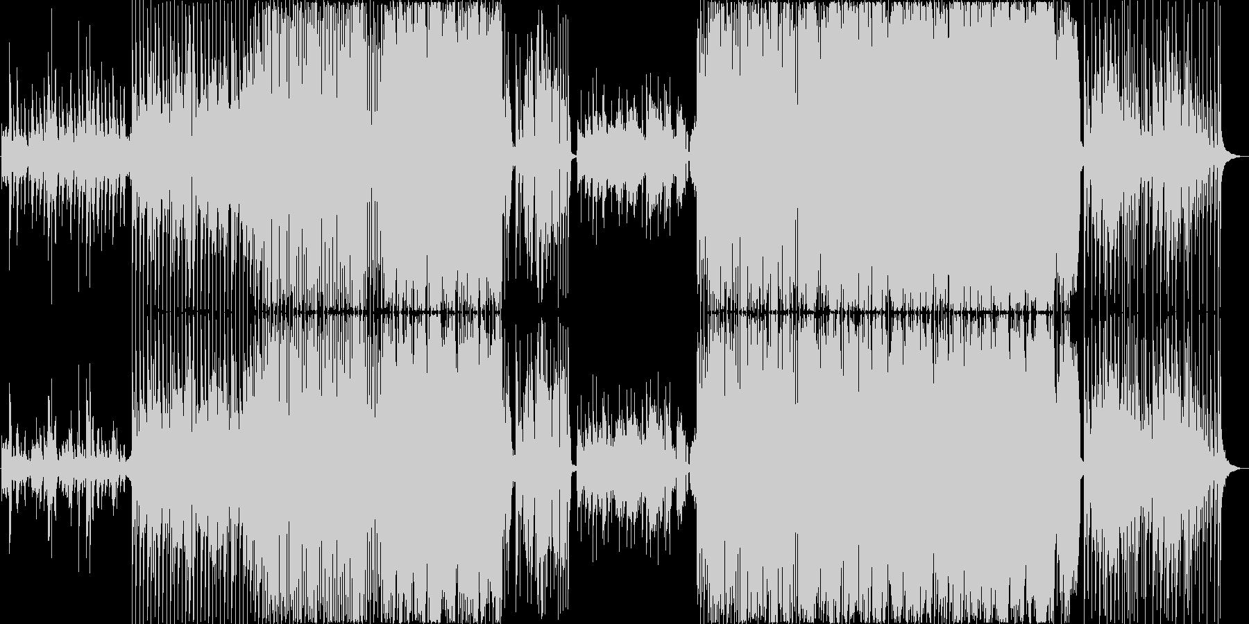 お洒落なコードとクールなリズムの未再生の波形