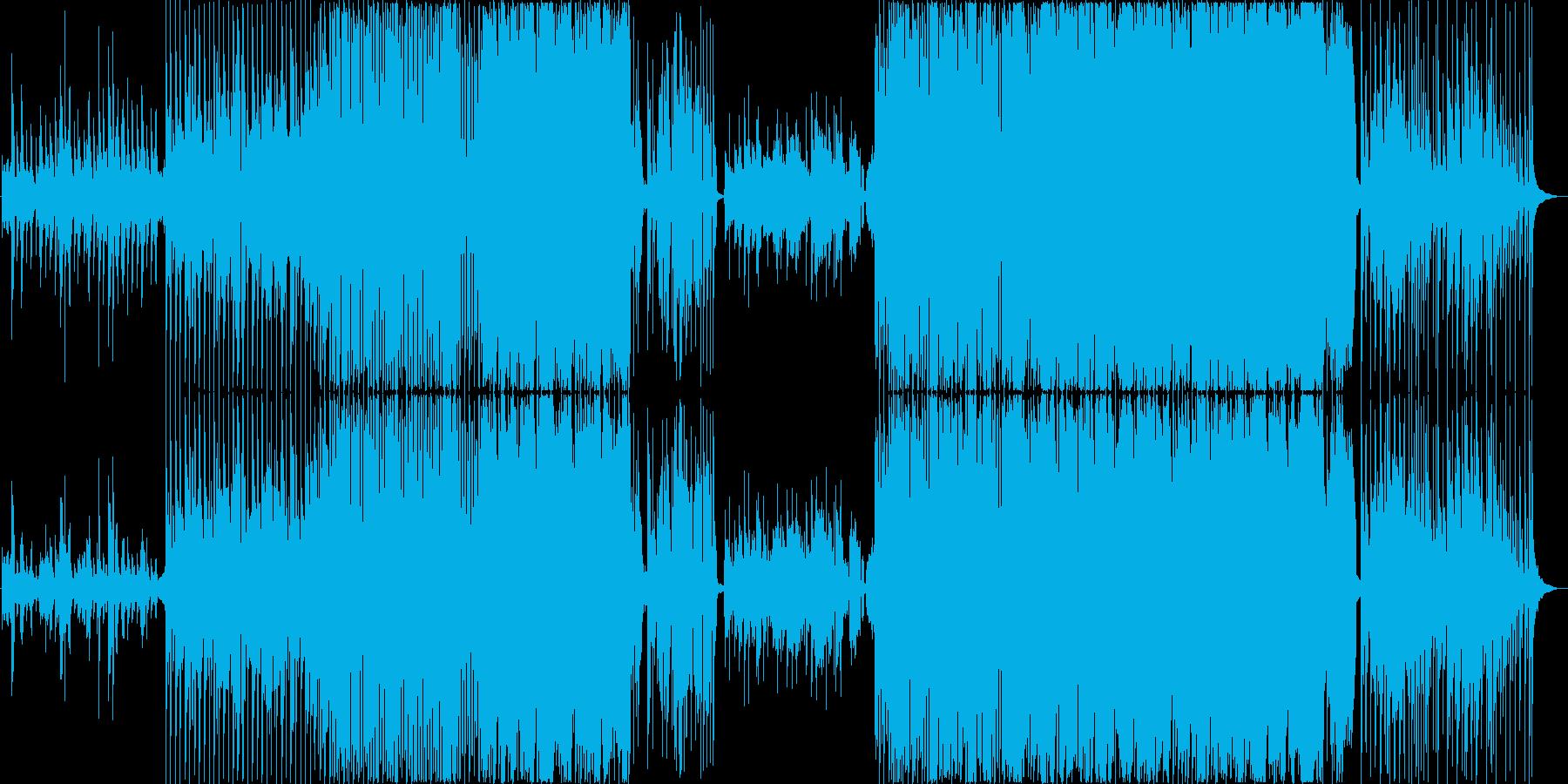 お洒落なコードとクールなリズムの再生済みの波形