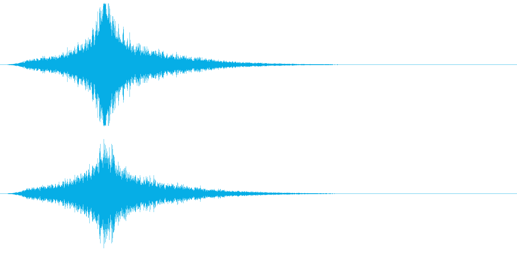 宇宙船・飛翔体#4通過 中央の再生済みの波形