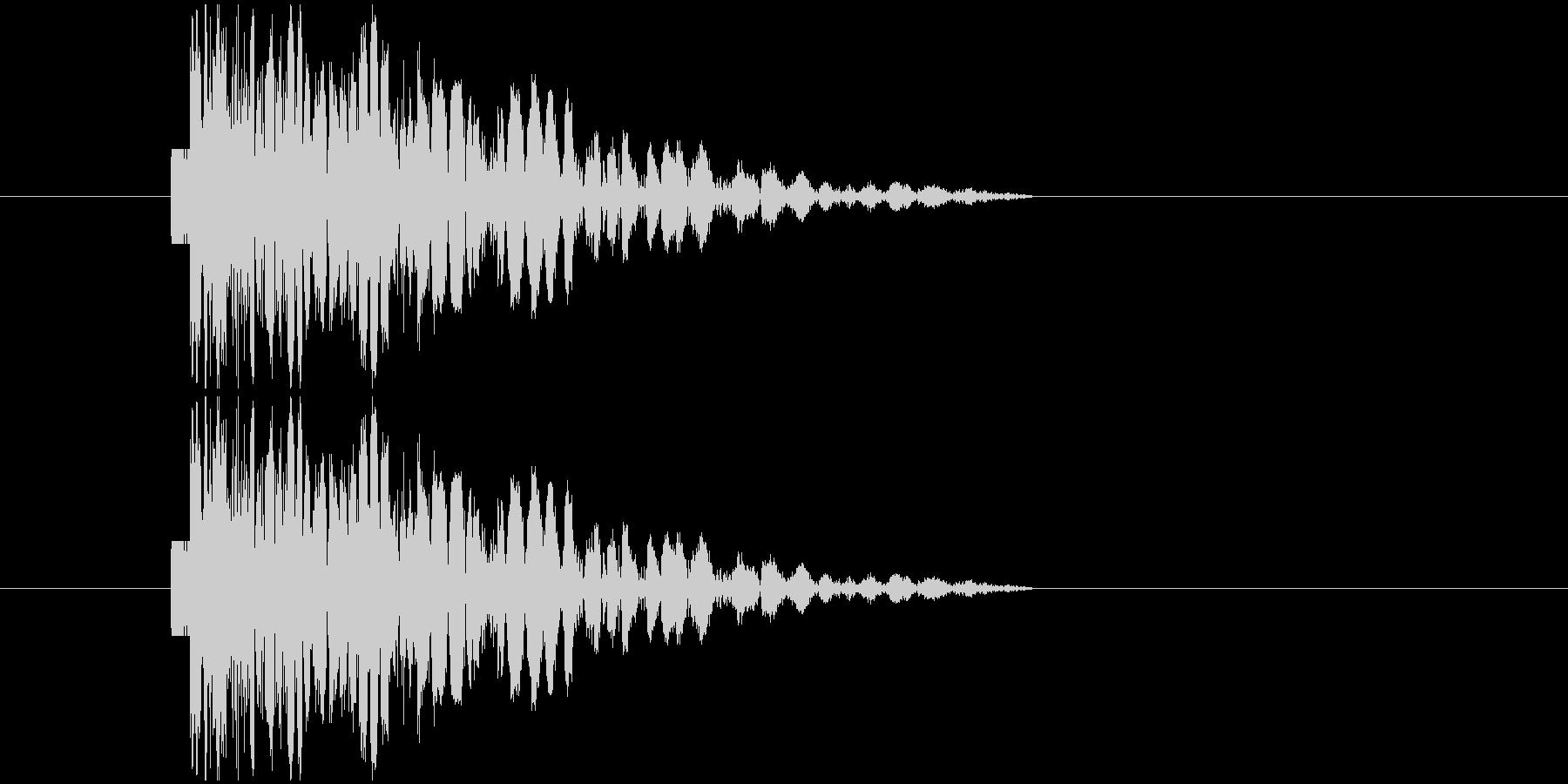 打撃音パンチの未再生の波形