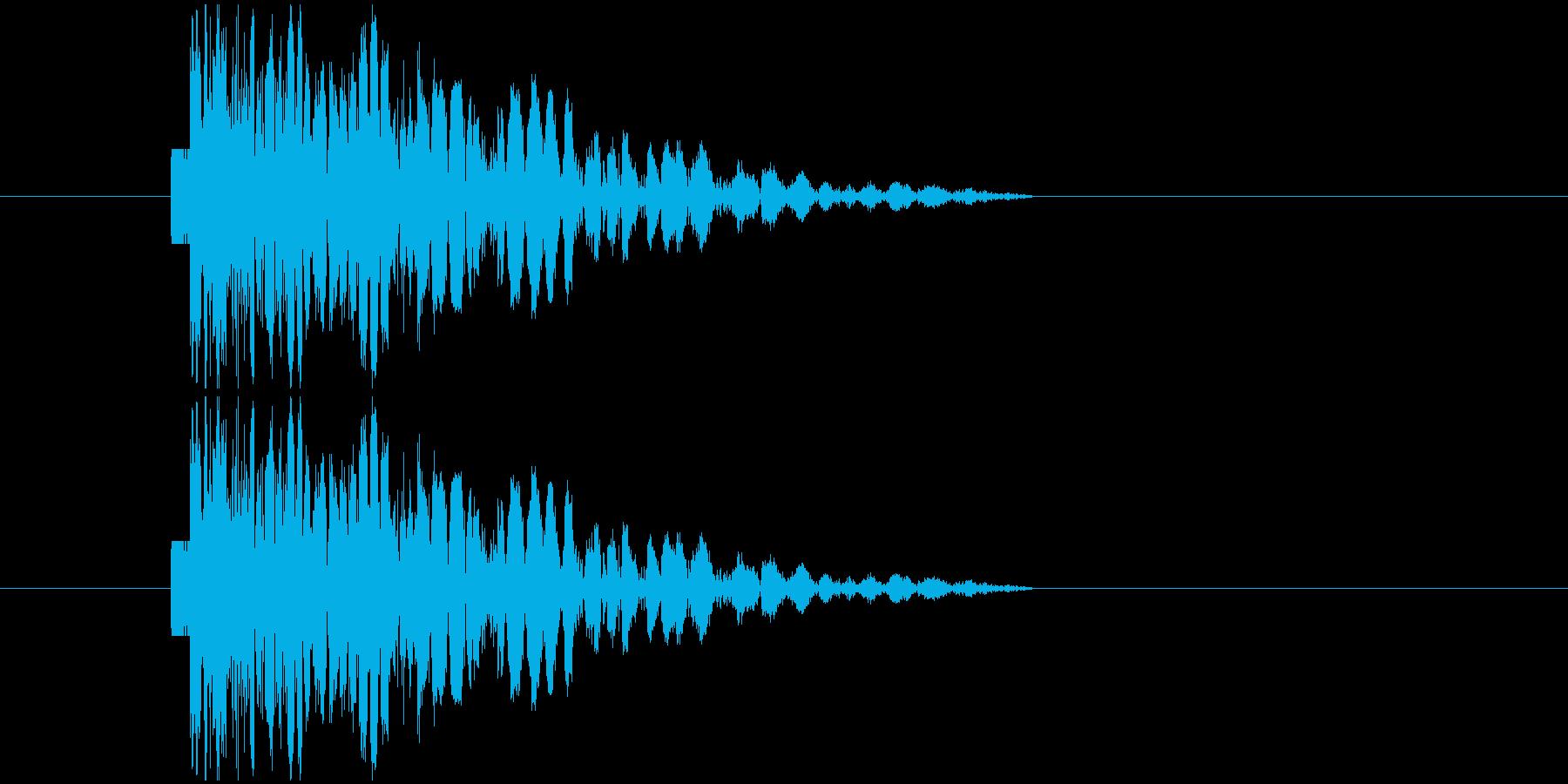 打撃音パンチの再生済みの波形