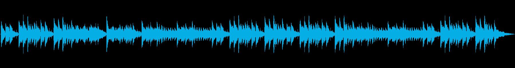 ピアノとアコースティックギターの温...の再生済みの波形
