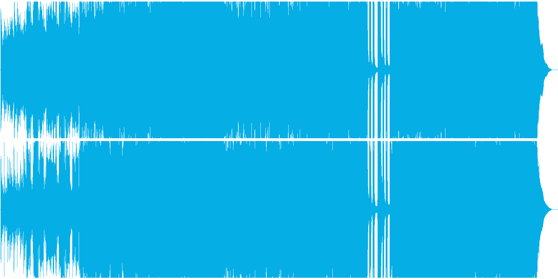 生演奏。切ない系4つ打ちポップロックの再生済みの波形