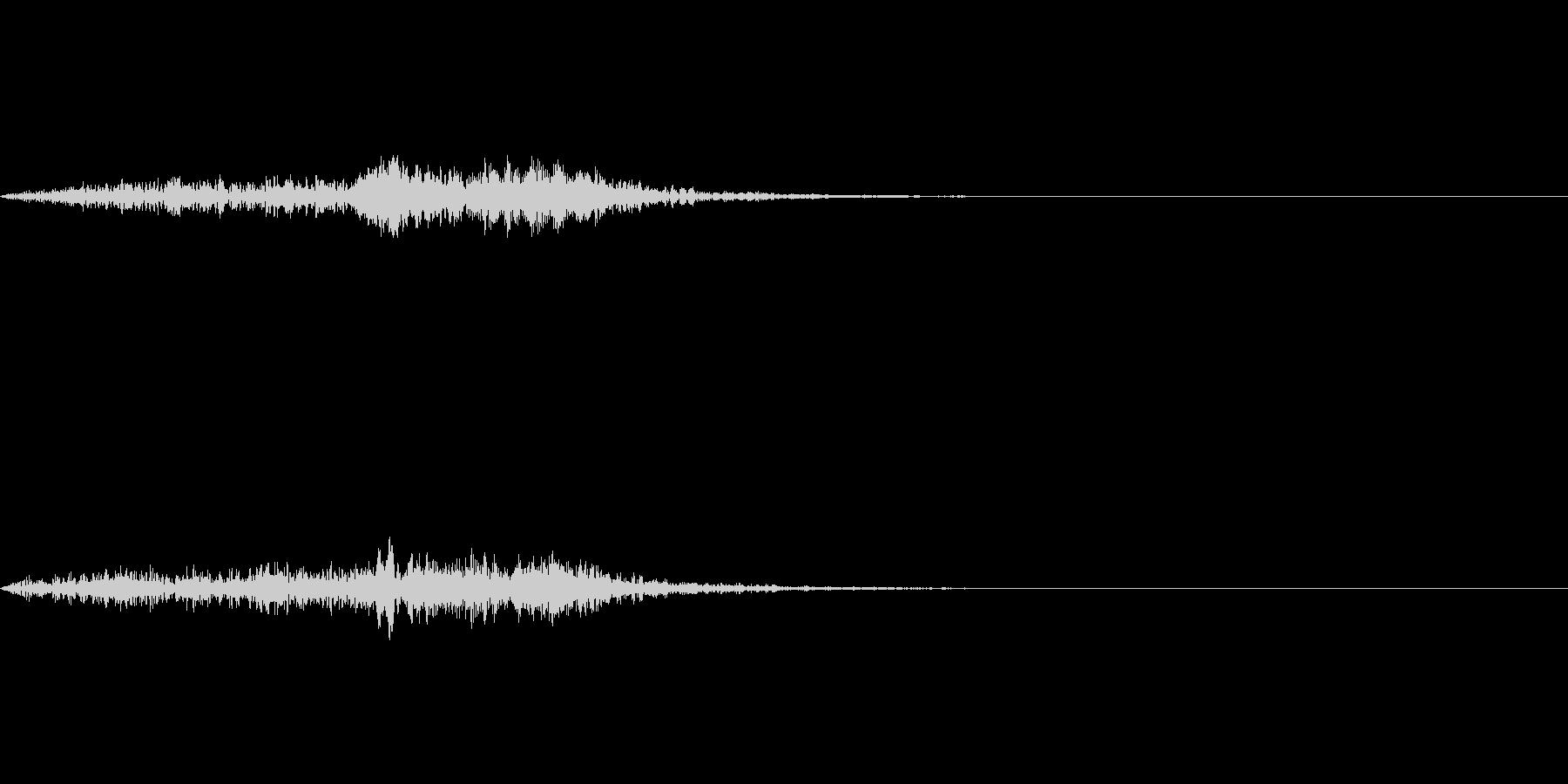 「象の鳴き声みたいなブラス音」の未再生の波形