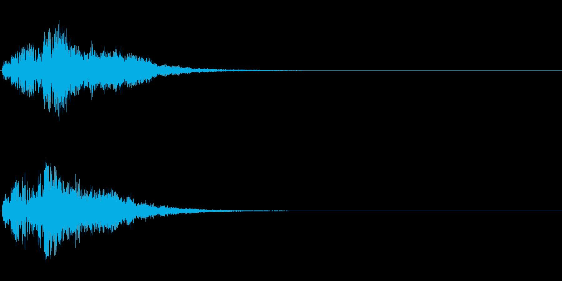 ハープ・上昇_1-2の再生済みの波形