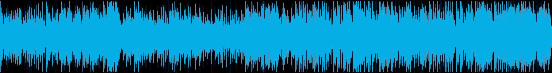 楽しく軽やかで弾むようなBGM※ループ版の再生済みの波形